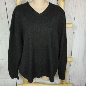 Brooks brothers 346 charcoal 100% cashmere sweater